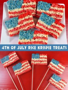 American Flag Krispies