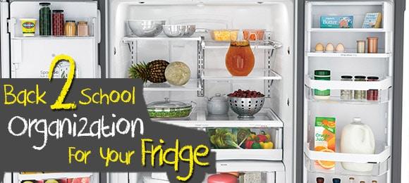Back to school fridge organization