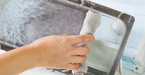 how to clean dryer lint trap