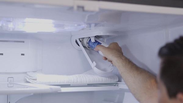 GE refrigerator leaks water